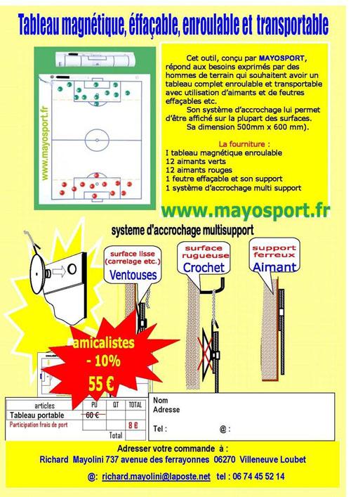 Le tableau magnétique Mayosport