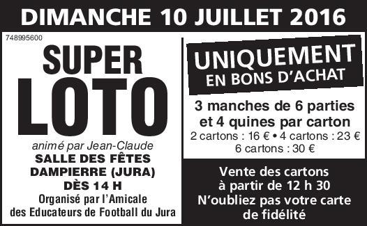 Super Loto de l'AEF du Jura