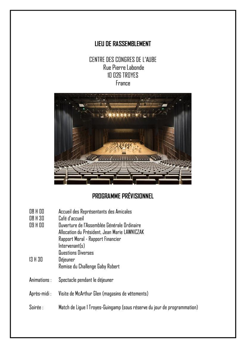 Assemblée Générale de l'AEF le samedi 03 octobre à Troyes
