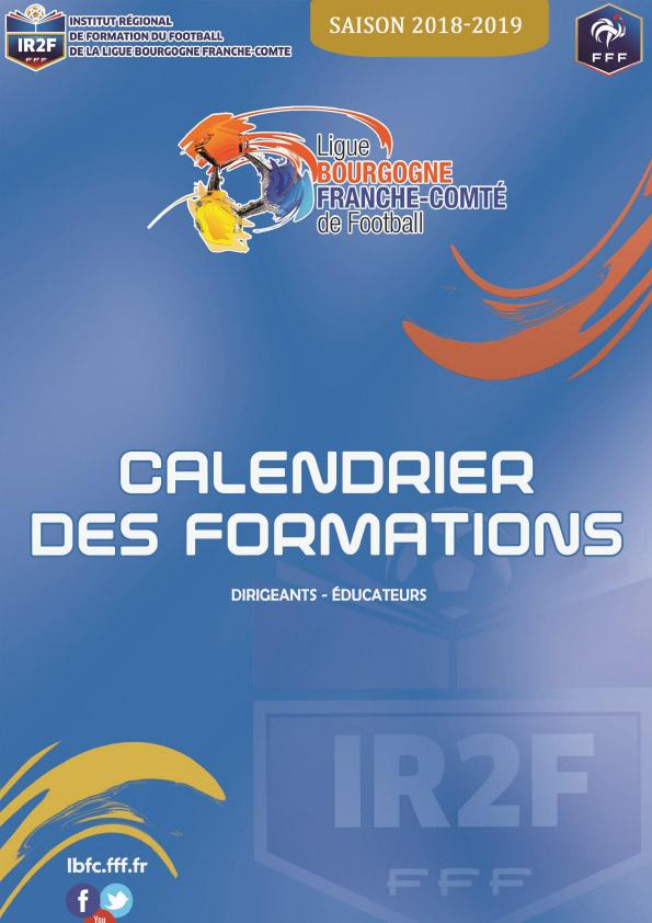 Calendrier des formations Ligue Bourgogne Franche-Comté