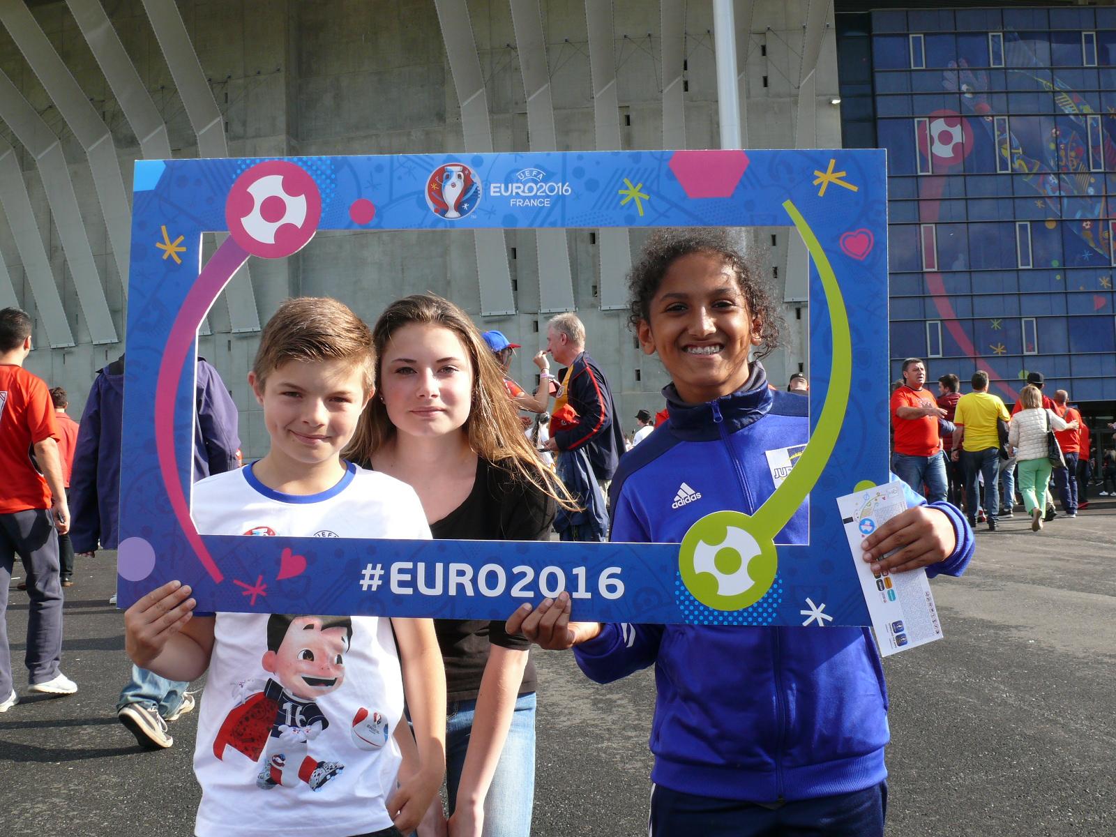 Les lauréats U11 à l'Euro 2016