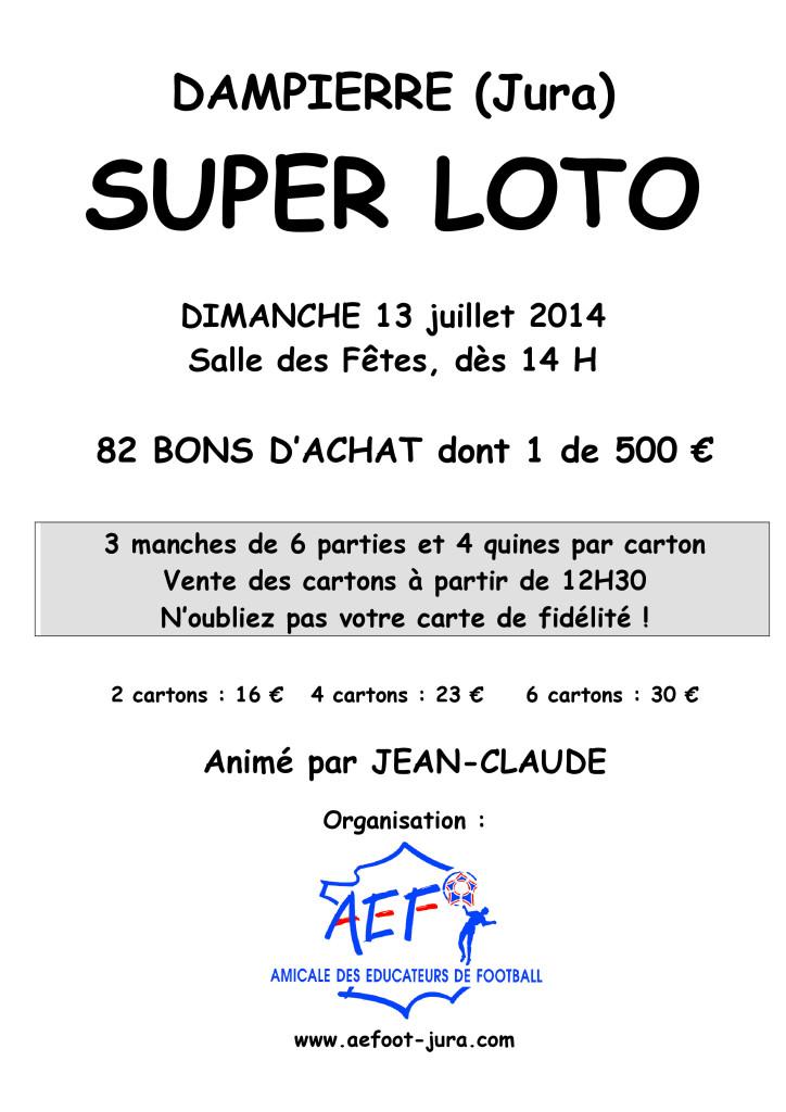 Super Loto du 13-07-2014